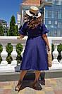 Летнее платье батал из жаккарда на запах 53blr2061, фото 2