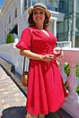 Летнее платье батал из жаккарда на запах 53blr2061, фото 3