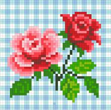 АМД-105. Алмазная мозаика Розочки 12х12см