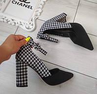 Туфлі чорні жіночі на каблуку з ремінцем 39р, фото 1
