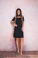 Платье женское из евро-крепа - Черный, фото 1