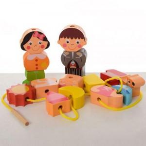 Деревянная игрушка Шнуровка фигурки