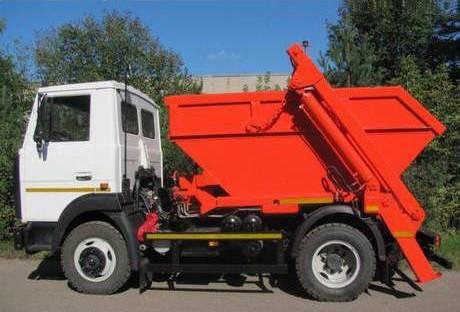 Контейнерный мусоровоз (портальный мусоровоз)