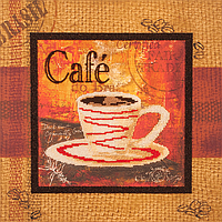 Набор для вышивки бисером FLF-058Чашечка кофе-130*30 Волшебная страна качественный , фото 1
