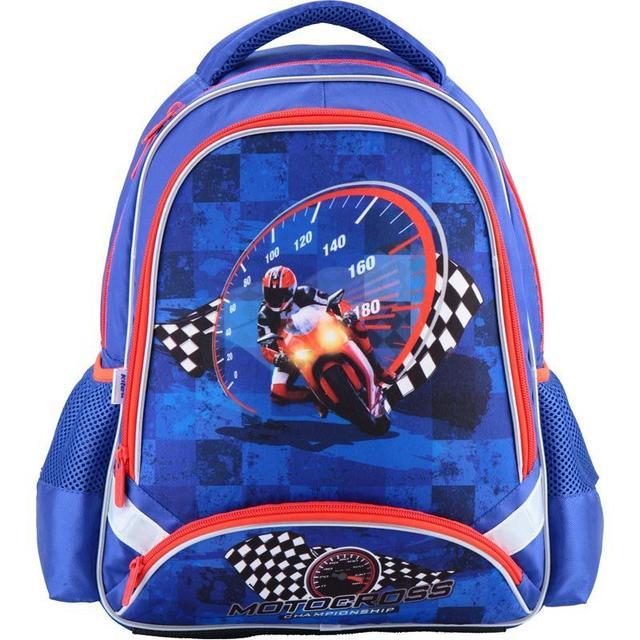 Фото ортопедический синий рюкзак для школьника