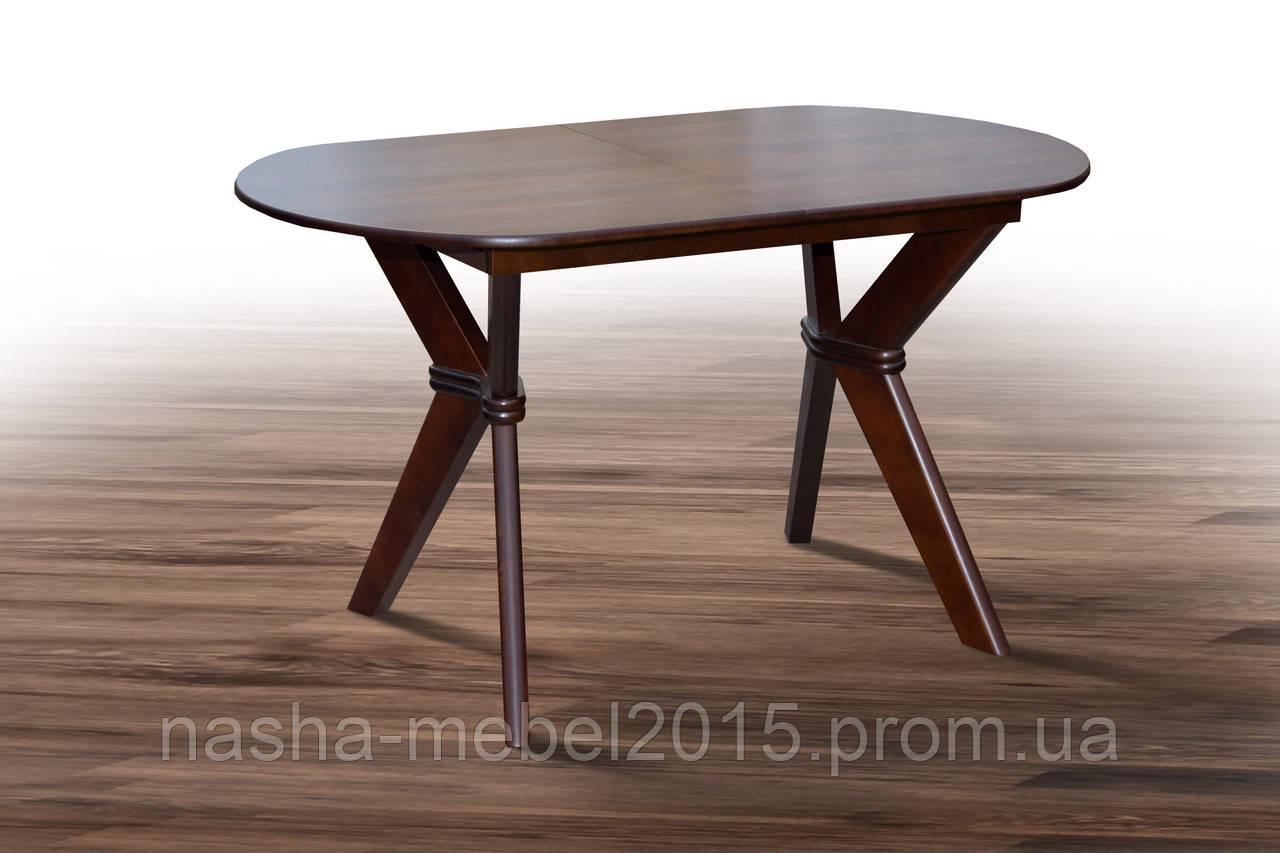 Стол деревянный раскладной Брайтон темный орех