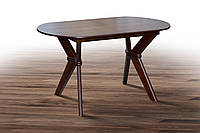Стол деревянный раскладной Брайтон темный орех, фото 1