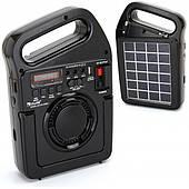 Радио-колонка с солнечной батареей GOLON RX-499BT Черная
