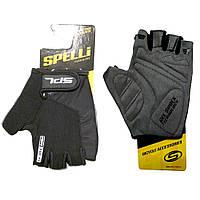 Spelli SBG-1457 Велоперчатки летние гель черный XXL
