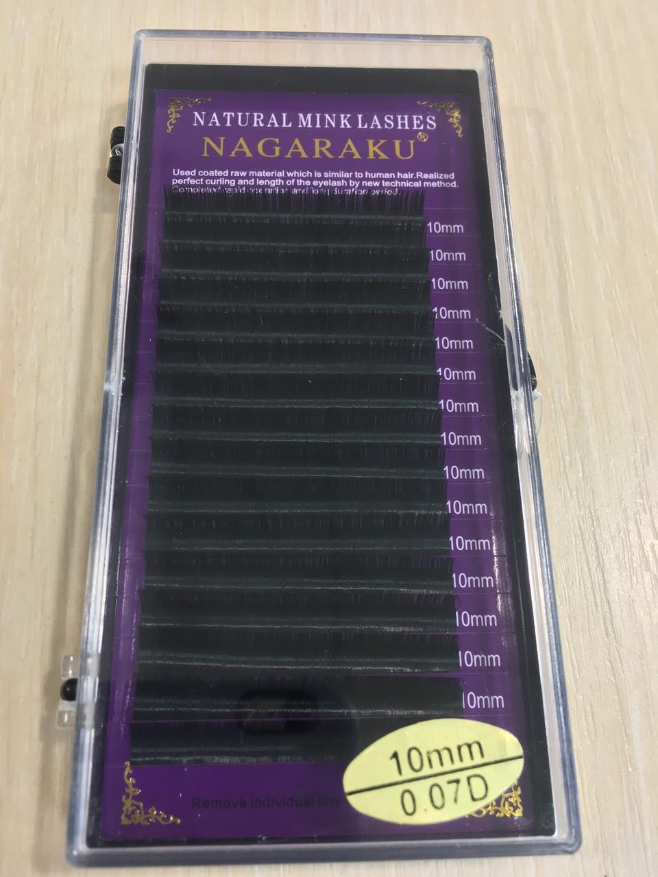 Ресницы Nagaraku толщина 0,07 изгиб D длина 10