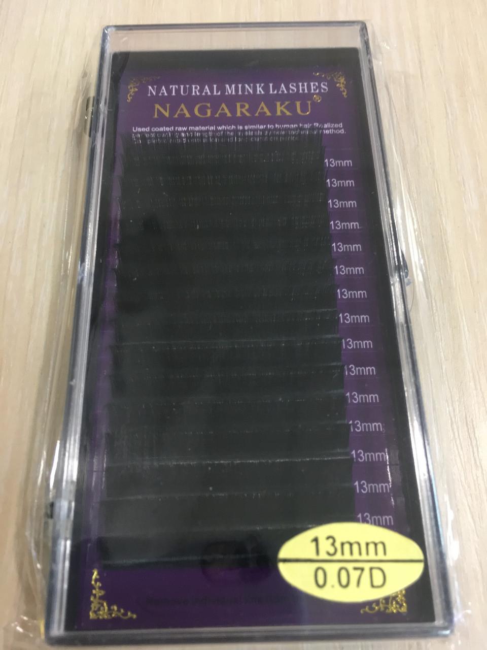 Ресницы Nagaraku толщина 0,07 изгиб D длина 13