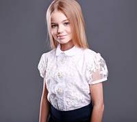 Красивая школьная блузка на первый звонок тм МОНЕ р-ры 128,146