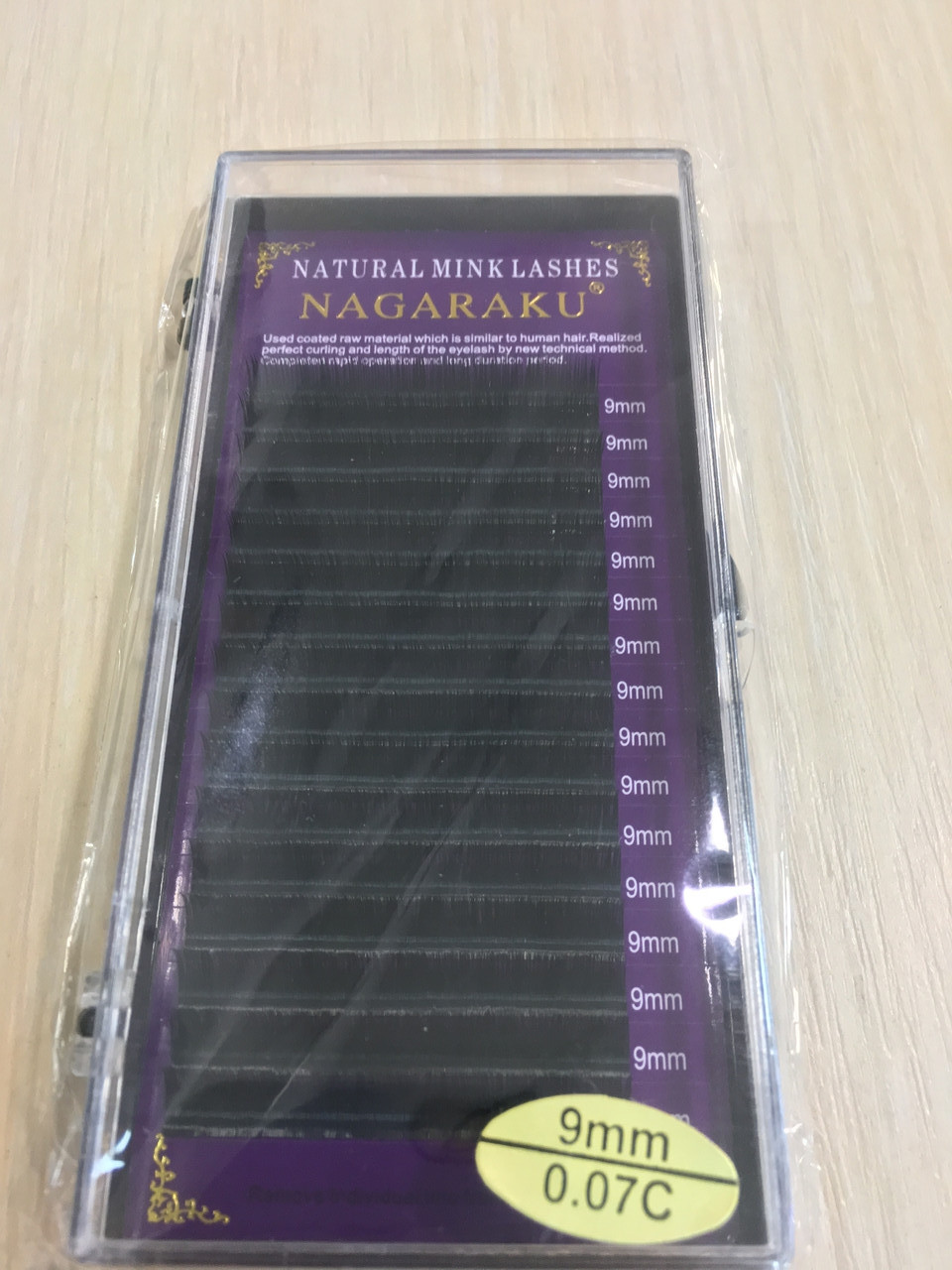 Ресницы Nagaraku толщина 0,07 изгиб С длина 9