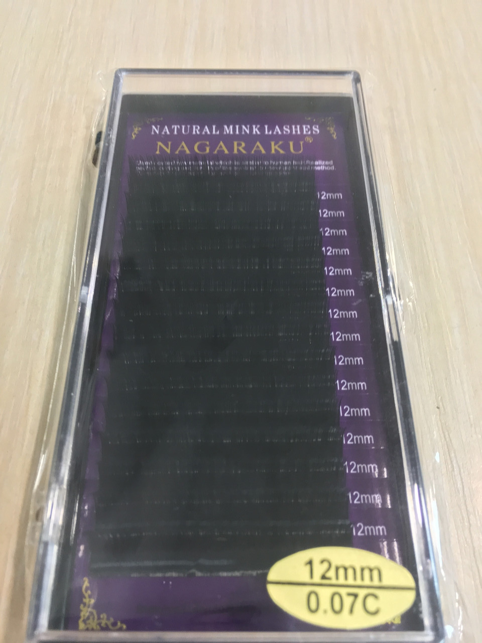 Ресницы Nagaraku толщина 0,07 изгиб С длина 12