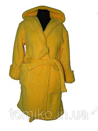Халат Средней Длины цвет желтый, фото 2
