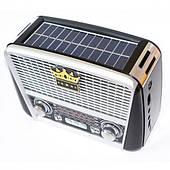 Радиоприемник RX-455S Retro с фонариком и солнечной панелью Golon