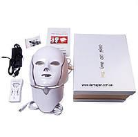 LED Маска для лица и шеи + Микротоки (в фирменной коробке)