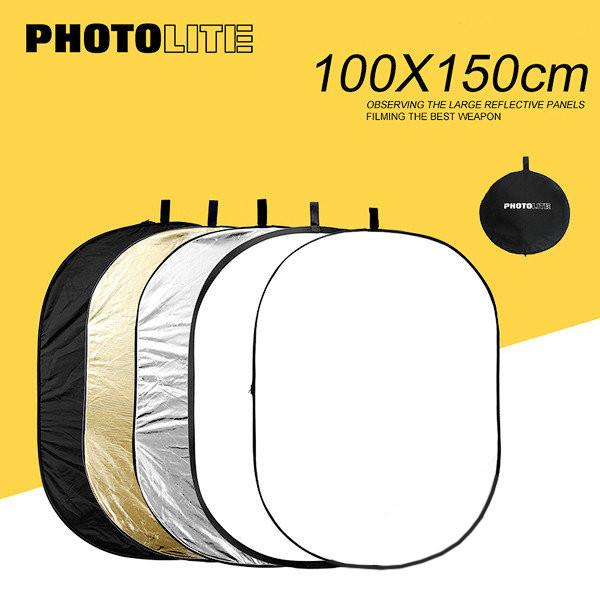 Отражатель - рефлектор прямоугольный Photolite (100x150 см.) 5 в 1.