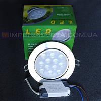 Светильник светодиодный дневного света IMPERIA 12W поворотный встраиваемый LUX-522126