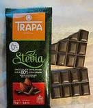 Черный шоколад, 80% какао, без сахара, Trapa Stevia, фото 2