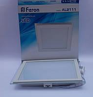 Светодиодная панель Feron AL2111 30W 5000K (корпус -белый)
