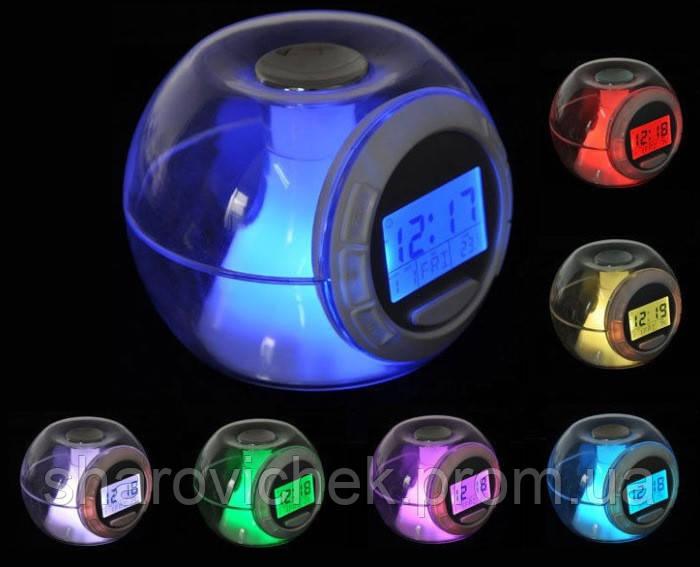 Картинки по запросу Часы-будильник 7 color