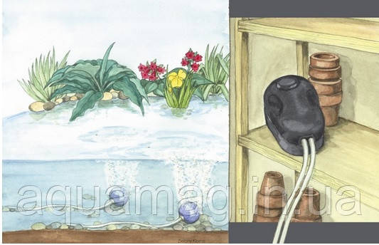 Аэратор Pontec PondoAir 200 компрессор для пруда, водоема, озера, узв, септика, фото 2