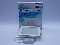Светодиодная панель Feron AL2111 12W 5000K (корпус -белый)