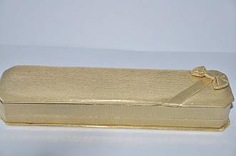 Коробка подпрочная под браслет золотая