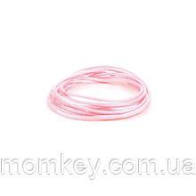 Шнур (розовый-кварц)