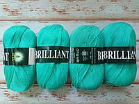 Пряжа Вита Бриллиант (VITA Brilliant) №4978 зеленая бирюза. Набор - 4 шт.