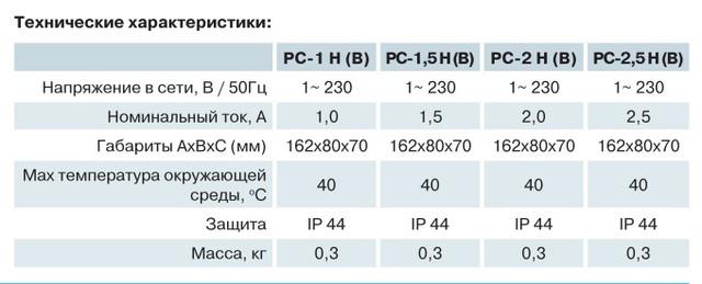 Регулятор скорости Вентс РС-1 Н(В)