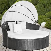 Диван - шезлонг, кровать из ротанга