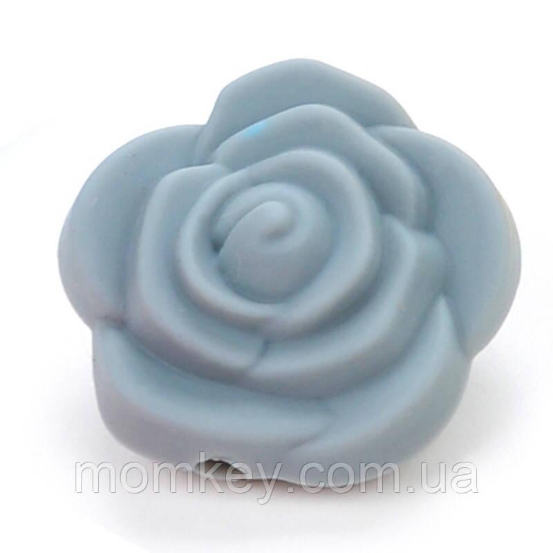 Роза 21*21*19 мм (серый)