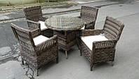 Набор мебели стол+4 стула ротанг