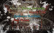 Прибытие: Activlab, Fitness Authority, Kevin Levrone, Muscle Care, Optimum Nutrition, Real Pharm, Willmax.