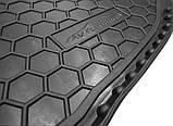 Резиновый коврик багажника Kia Rio 2017- (седан)(российская сборка) Avto-Gumm, фото 5