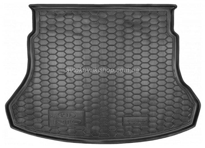 Резиновый коврик багажника Kia Rio 2017- (седан)(российская сборка) Avto-Gumm
