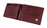 Кошелек женский кожаный зажим для купюр SULLIVAN kgzk2(5) марсала
