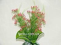 Искусственный куст мимозы( цвет розовый)