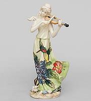 """Фарфоровая статуэтка девушка """"Волшебная скрипка"""" (Pavone) JP-37/ 7"""