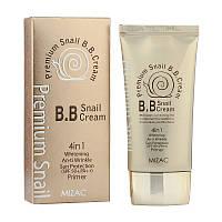 Праймер + BB-крем MIZAC Premium Snail B.B.Cream SPF50+ с муцином улитки 4 в 1  50 мл