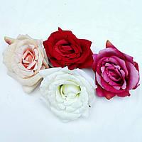Головка розы раскрытая бархатная  10см