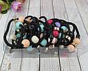 Резинки для волос с цветными бусинами 30 шт/уп., фото 3