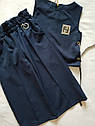 Модный школьный комплект  для девочки - жилет и кюлоты Размер 140-146, фото 2