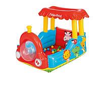 Надувной игровой центр - кровать Bestway 93503 «Паровоз», 132 х 94 х 89 см, с шариками 25 шт