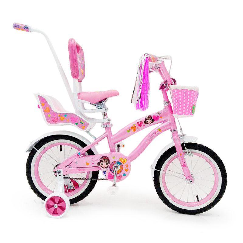 Детский Испанский Велосипед  JASMINE 14 дюймов c родительской ручкой
