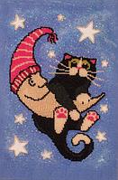 Набор для вышивания бисером FLF-069Лунный кот 25*35 Волшебная страна качественный