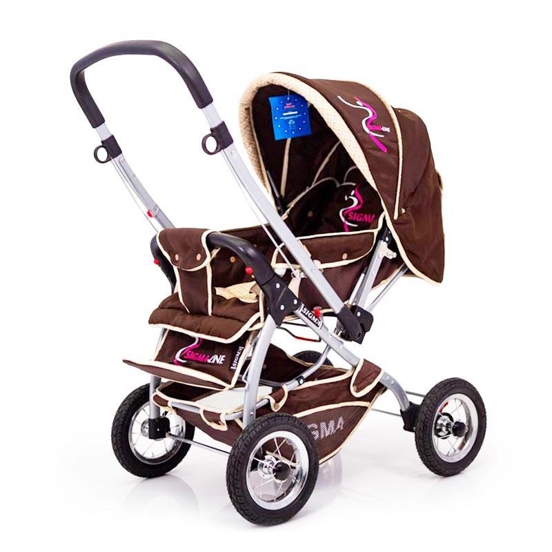 Дитяча прогулянкова коляска з перекидною ручкою Sigma H-538AF (надувні колеса)