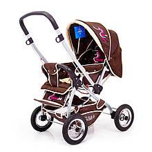 Детская прогулочная коляска с перекидной ручкой Sigma H-538AF (надувные колеса)